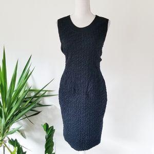 Altuzarra Couture Black Knit Ruched Vamp Dress S